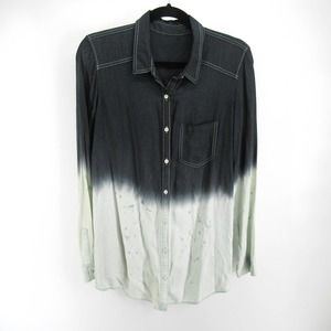Rubbish Nordstrom Ombre Dip DyeButton Up Shirt
